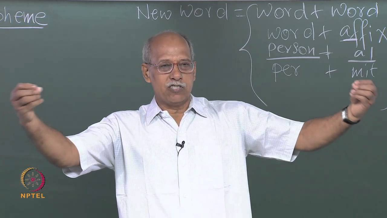 Mod-01 Lec-25 Units of Word Formation