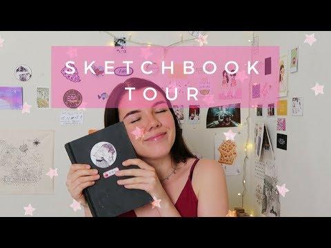 Hi, here's a sketchbook tour.