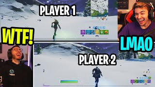 We used KEYBOARD and MOUSE on SPLIT SCREEN Fortnite... (bad idea)