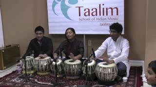 Taalim School Winter Student Recital 2013 | Tabla
