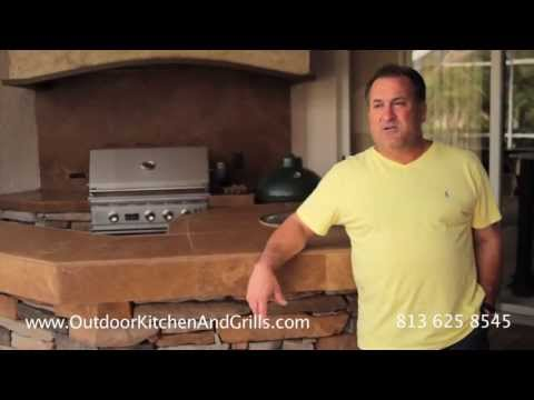 Custom Outdoor Kitchen construction full project Lutz florida- north Tampa-Fl
