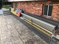 Custom 25 Foot Outdoor Storage Bench with Keg Cooler