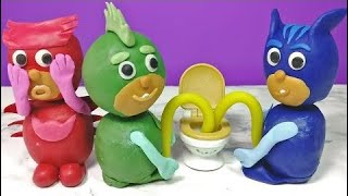 PJ Masks Toilet Potty Training Owlette pee in Play-Doh English Episode Compilation Story