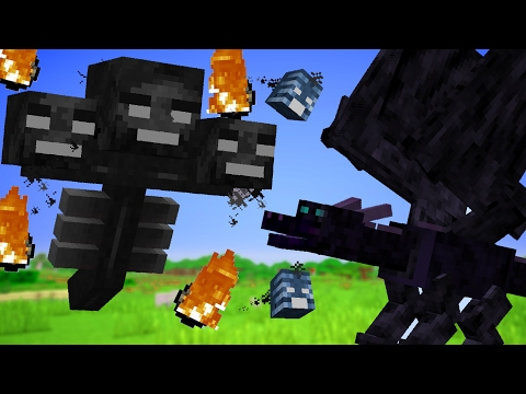 WHO WOULD WIN: DRAGON VS WITHER (Minecraft)