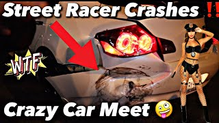 Pontiac G8 Loses Control At Huge Carmeet & (Crashes) Raw Footage (Multiple Crashes) *Must Watch*