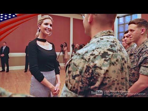 海兵隊基地を訪れるイヴァンカ・トランプさん