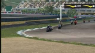 MotoGP 07 game - Jerez - Rossi chasing me down.