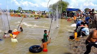 Amazing Khmer Real Life Fishing At Banteay Meanchey In Cambodia -Khmer Fishing At Banteay Meanchey