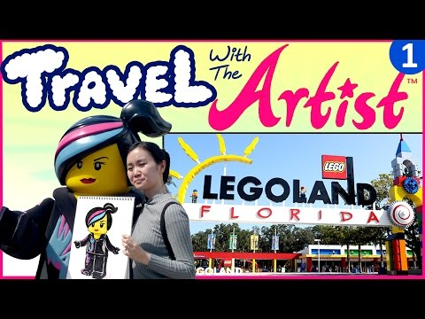 Fun Things to Do, to See, to Draw in LEGOLAND - Travel with Artist Vlog #1