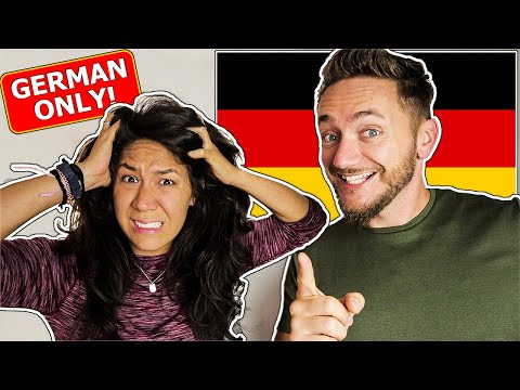 Speaking ONLY GERMAN To My AMERICAN GIRLFRIEND For 24 Hours!