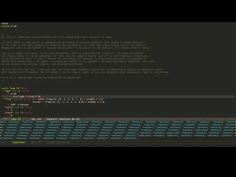 TimeLines: Live Coding Music as a Function of Time