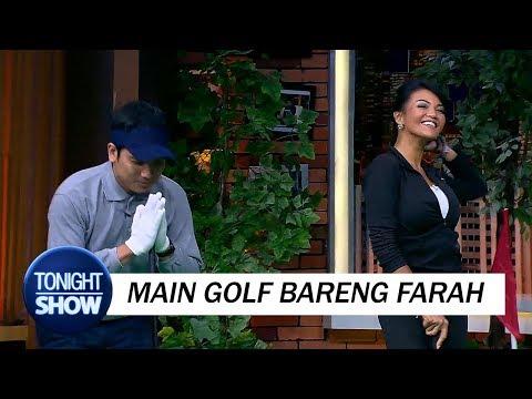 Kelakuan Desta Vincent Main Golf Bareng Farah Quinn