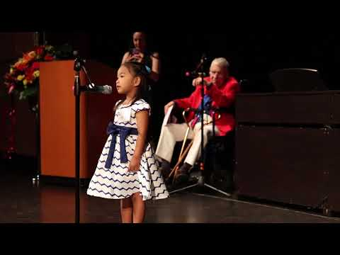 4 Year Old Keanna sings One Call Away at NCM Music Festival 2018