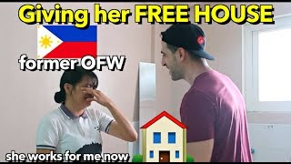 Surprising My FILIPINA Staff (Former OFW 🇵🇭 in Kuwait) a FREE HOUSE! For REAL
