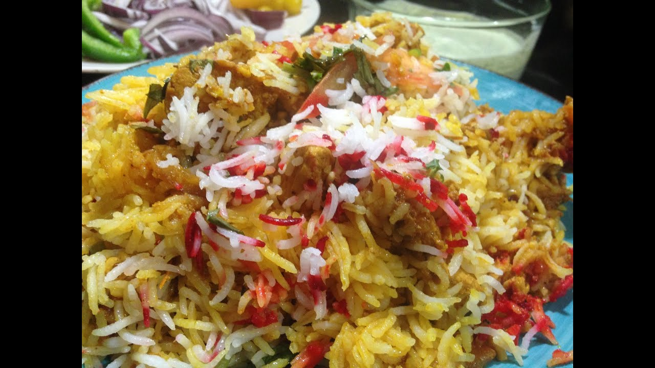 how to make spicy chicken biryani