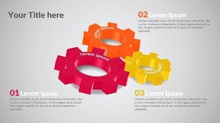 How to make business process 3d gears in Microsoft PowerPoint. PPT tricks.
