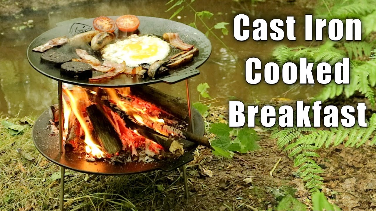 Woodland Breakfast Cooked on Raised Fire