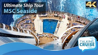 Sail away with us on a tour of the MSC Seaside, a cruise ship with ...