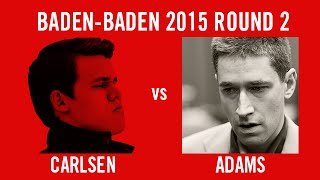 Grenke Chess Classic 2015 Round 2 Magnus Carlsen vs Michael Adams