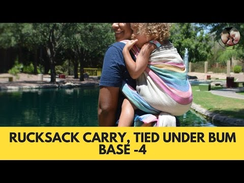 Rucksack Carry, Tied Under Bum (TUB)