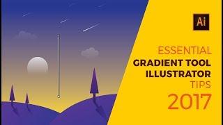 ESSENTIAL Gradient tool Illustrator Tips 2017 | Design 8