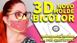 MÁSCARA DE PROTEÇÃO 3D BICOLOR NOVO MOLDE – 2 CORES