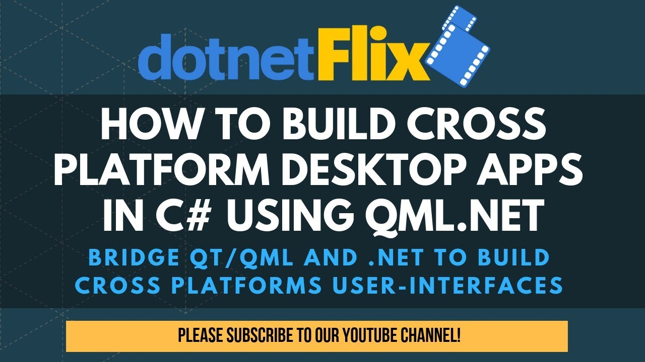 How to build cross-platform desktop apps in C# using QML NET
