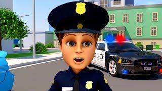 Carros de polícia desenho animado. Desenho animado infantil educativo. Maquina desenho.