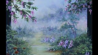 Pintando paisagem em acrílico