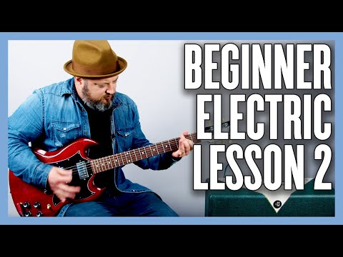 Beginner Electric Guitar Lesson 2 (1 Finger Power Chords)