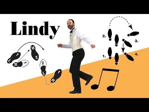 Lindy hop basic footwork