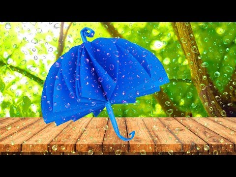 How To Make Beautiful Umbrella With Color Paper|DIY Paper Decor For Kids|Easy Paper Umbrella Crafts