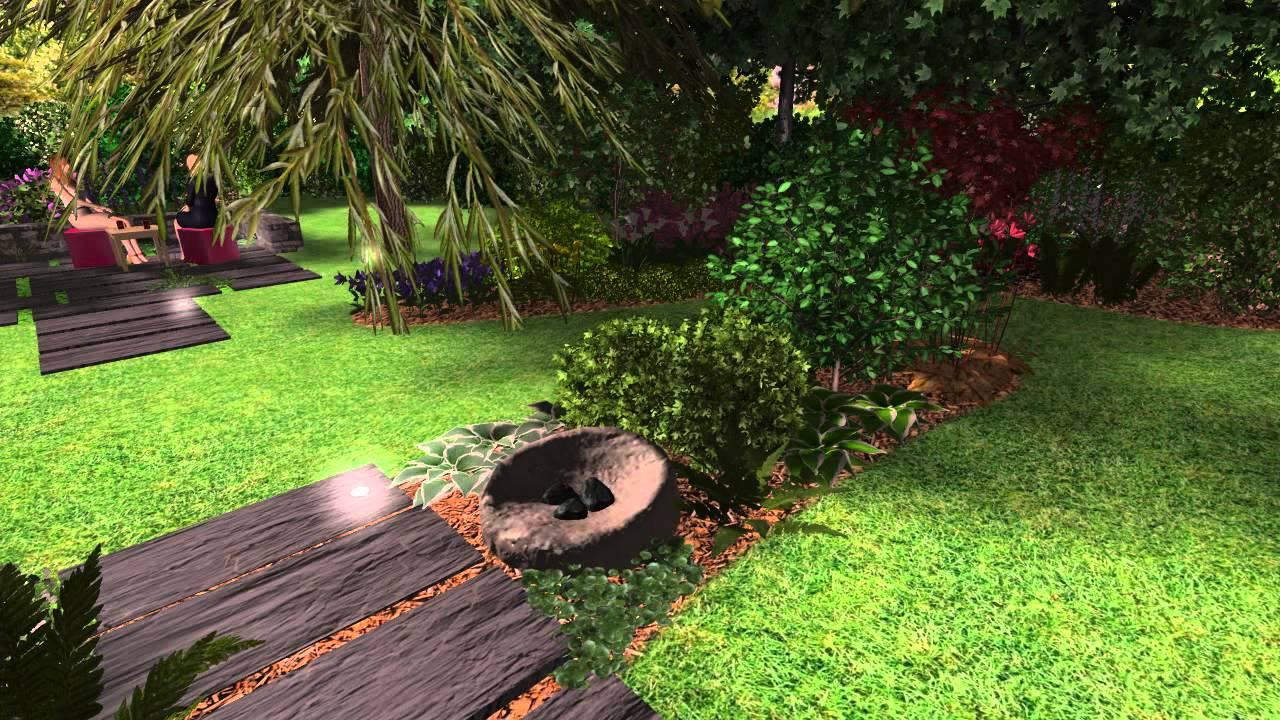 Jardin bucolique en soir e youtube for Jardin youtube
