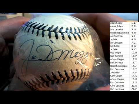 2017 Tristar New York Dynasty Autographed Baseball Joe DiMaggio!! ID NYBASEBALL109