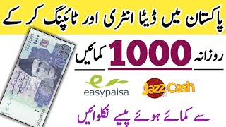 How to earn money in Pakistan by Data Entry Work | Earn 1000 Rupees daily | 2019
