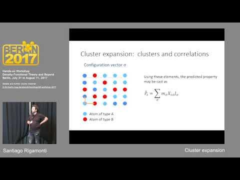 L22, Santiago Rigamonti, Cluster expansion