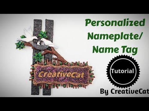 Name plate/Name tag/custom name plate/art and craft/cardboard craft