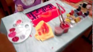Дети рисуют пустыню