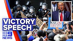 Turf war waged and won during U S protests | Nine News Australia