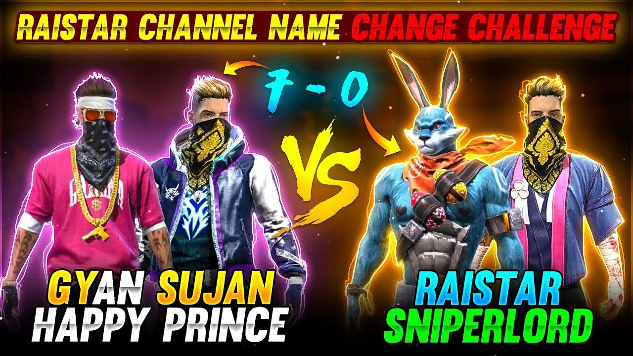 Raistar Channel Name Change 7-0 Clash Squad