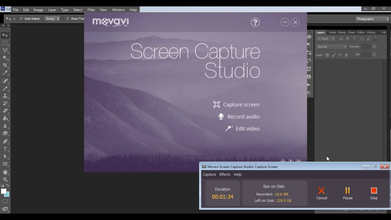 movavi screen capture settings