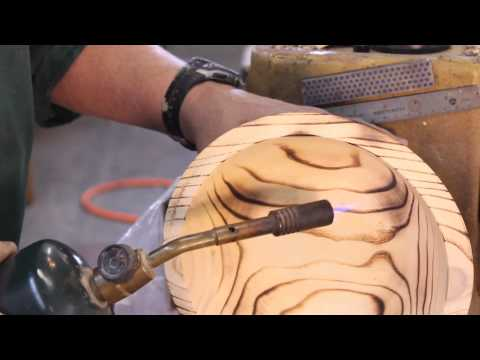 Burning WOOD-turnings