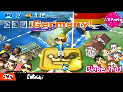 Wii Party - Globe trot (Expert Mode) Player Daddy vs Shinta vs Midori vs Eduarde [1080p@60fps HD]