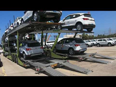 SEAT ARONA. загрузка машин на автовоз с SANyOK Trucker 🤟
