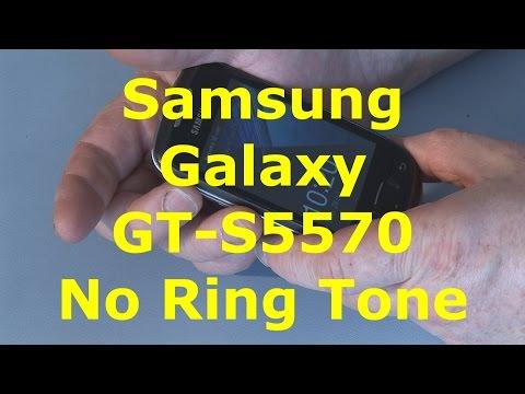 Samsung Galaxy GT-S5570 no Ring Tone