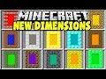Minecraft NEW PORTALS MOD | DIAMOND DIMENSION, DIRT DIMENSION, TNT DIMENSION & MORE!!