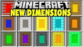 Minecraft NEW PORTALS MOD | DIAMOND DIMENSION, DIRT DIMENSION, TNT DIMENSION & MORE!!