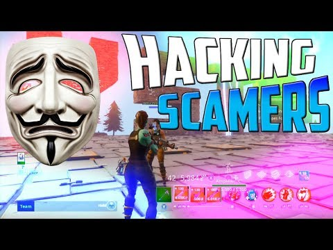 HACKING FORTNITE SCAMMERS ON SAVE THE WORLD *BOOTED OFFLINE*!! | Save The World