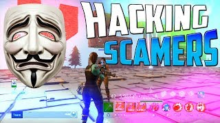 HACKING FORTNITE SCAMMERS ON SAVE THE WORLD -BOOTED OFFLINE! | Sauver le monde