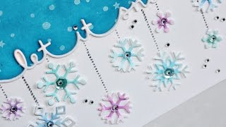 "Lawn Fawn | ""Let It Snow"" Snowflake Card"